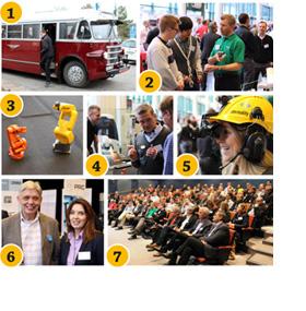 Kollage expo på Scania