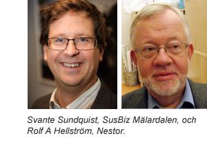 Svante Sundquist, SusBiz Mälardalen, och Rolf A Hellström, Nestor.