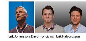 Erik Johansson, Davor Toncic och Erik Halvordsson
