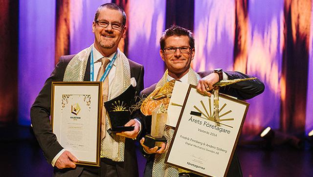 Fredrik Finnberg och Anders Sjöberg på Digital Mechanics, foto: Henrik Mill.