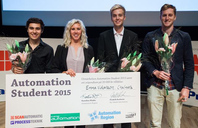 Emma Vidarsson vann Automation Student 2015