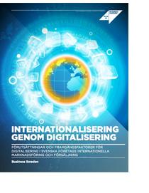 Rapporten Internationalisering genom digitalisering