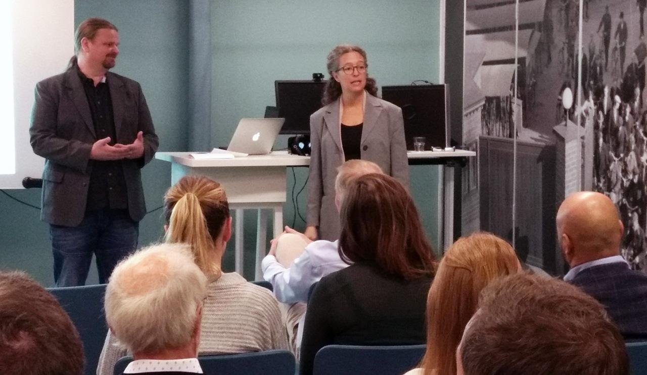 Annika Kärnsund och Mattias Derneborg, innovationskoordinatorer från Landstinget Västmanland