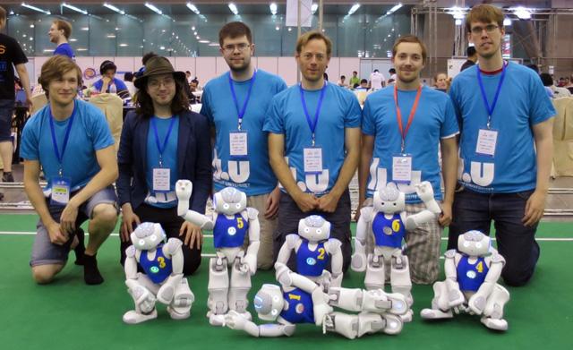 Det tävlande laget från Linköpings universitet