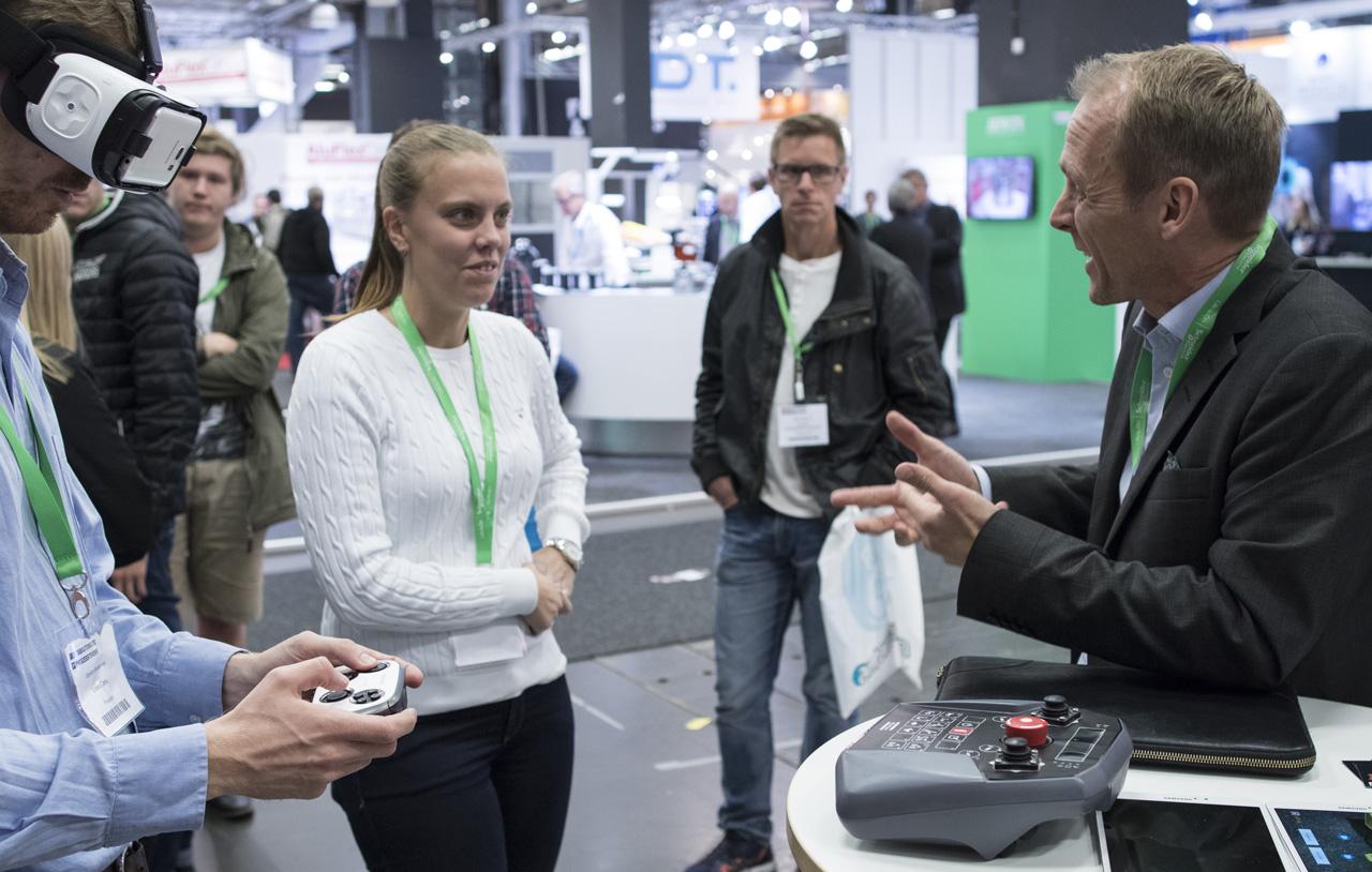 Utställare i Automation Regions monter – medlemsföretaget byBrick, med lösningar inom Virtual Reality.