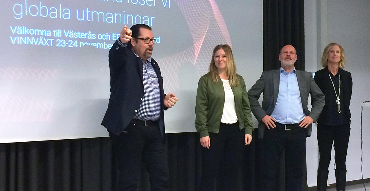 Representanter för VINNOVAS VINNVÄXT-vinnare träffades i Västerås den 23-24 november