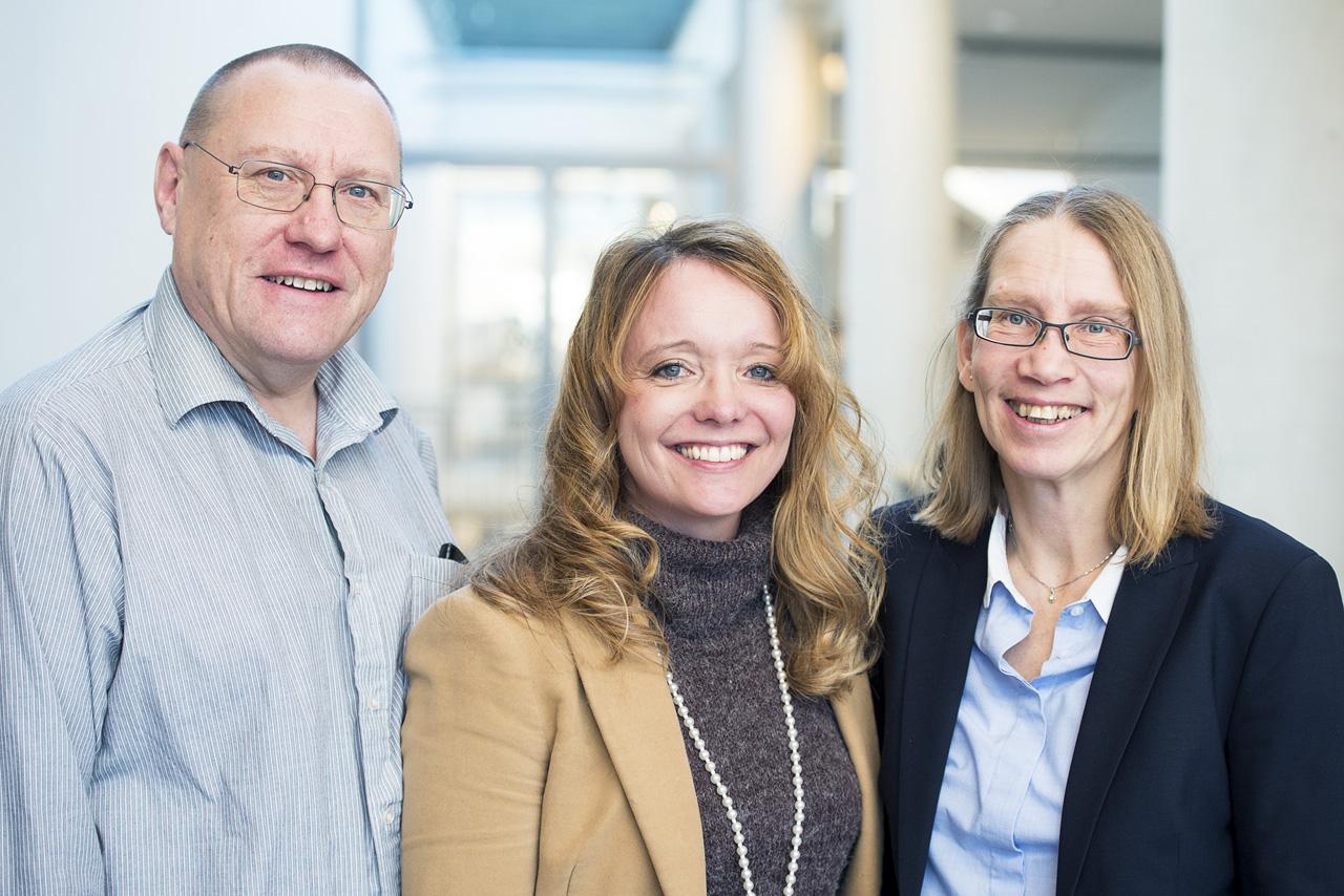 Mats Björkman, Therese Jagestig Bjurquist (tjänstledig) och Maria Lindén.
